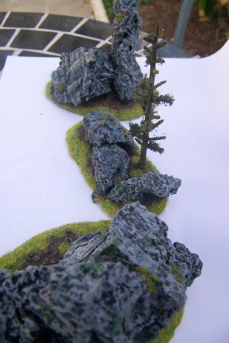 Rocas terminadas